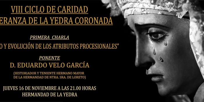 HOY, PRIMERA CHARLA VIII CICLO DE CARIDAD