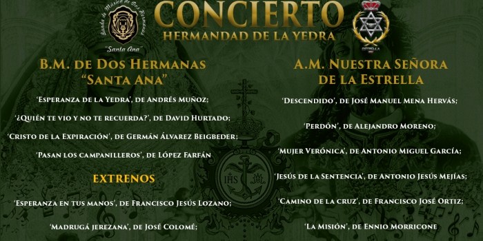 Repertorios de la Banda de Música Santa Ana y de la  Agrupación Musical Nuestra Señora de la Estrella